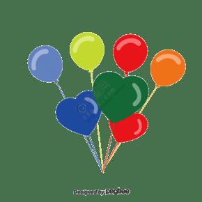 一堆彩色气球