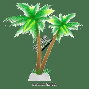 矢量地圖的椰子樹