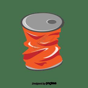 压碎的罐头