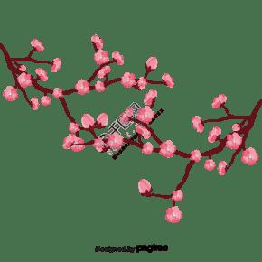 樱桃树枝矢量精美图案