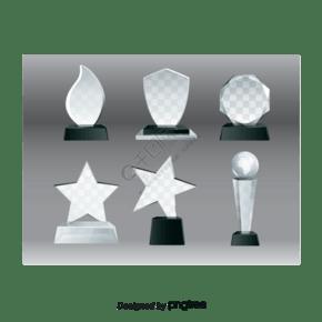 水晶矢量奖杯材料