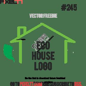 矢量图形标志生态住宅