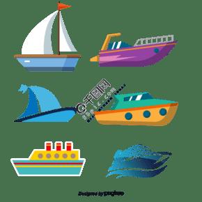藍色貨船矢量