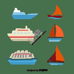 卡通船矢量