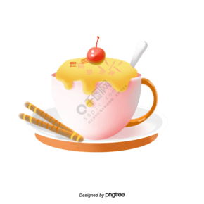 甜食餅干奶油櫻桃