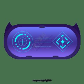 一个紫色的游戏机手柄
