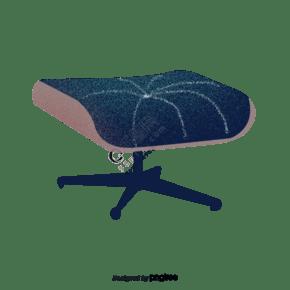 柔軟的滑輪沙發凳