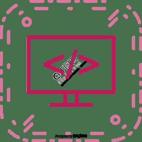 粉色电视机电脑轮廓图标