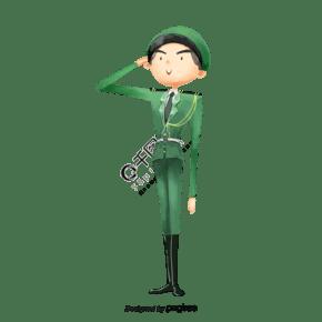 中國風格軍人敬禮