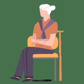坐在椅子上的年輕女性