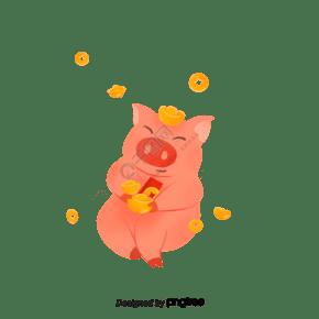 传统节日春节可爱动物小猪
