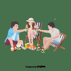 啤酒節慶祝野營野餐啤酒夏季食物