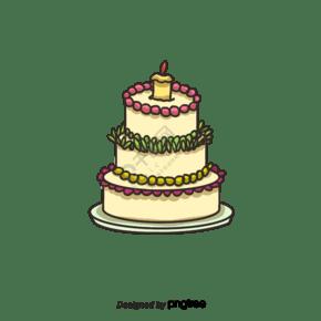 多層生日蛋糕蠟燭