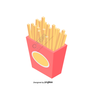 薯条卡通元素