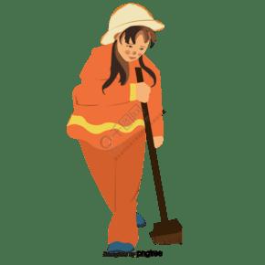 打掃衛生的清潔工