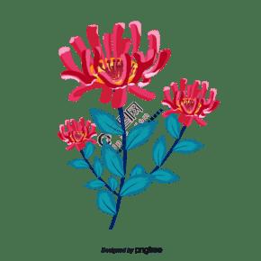 春天手繪水彩風花朵插畫
