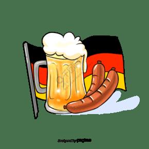 德國啤酒香腸元素