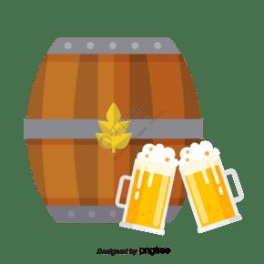 帶鐵環的木質酒桶啤酒碰杯