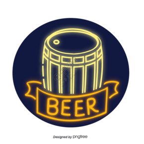霓虹德國啤酒酒桶元素