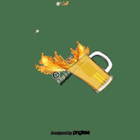 手繪碰杯啤酒香腸插畫