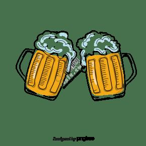 手繪德國啤酒碰杯
