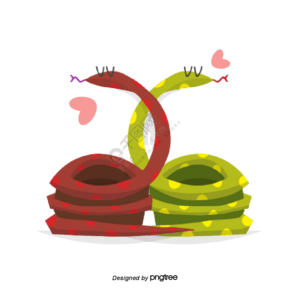 卡通彩色小蛇
