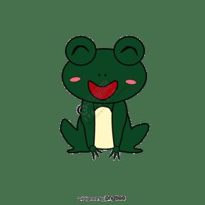 绿色可爱简约卡通风青蛙