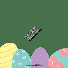 卡通可爱彩色复活蛋装饰
