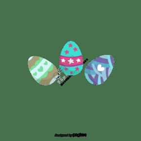 卡通手绘复活节三个彩蛋
