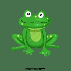 卡通风格绿色青蛙