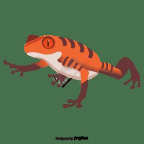 红色青蛙元素