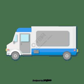 剪紙風格藍灰色物流卡車