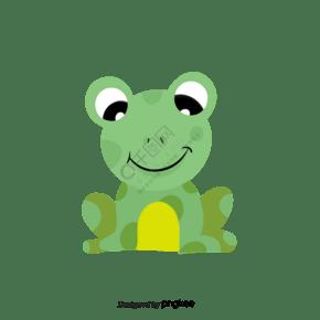 手绘青蛙clipart插画