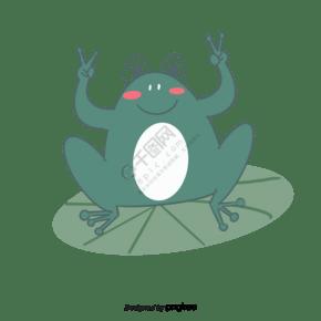 手绘卡通小青蛙