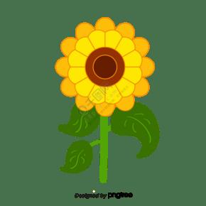 黃色手繪向日葵