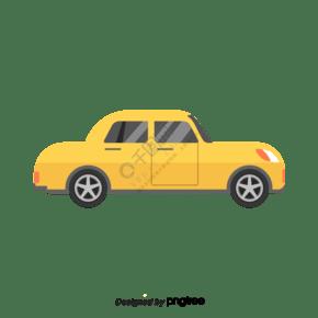 黃色矢量卡通車