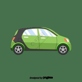 卡通綠色的小汽車設計