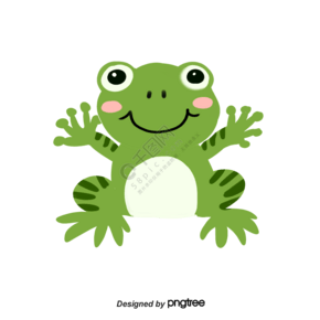 可爱挥手微笑卡通插画青蛙