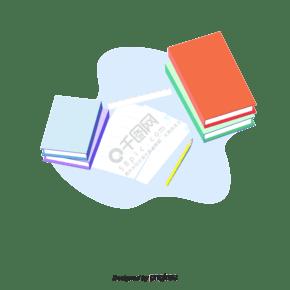 扁平化设计桌面书本