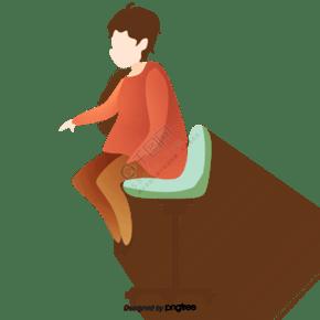 卡通人物綠色座椅