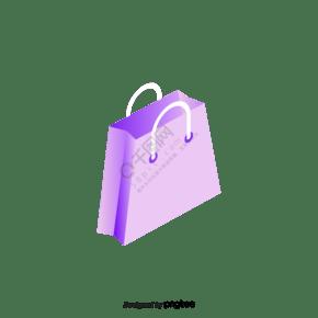 紫色包装袋手提袋