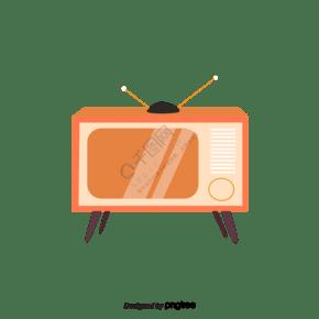 卡通风格黄色电视机