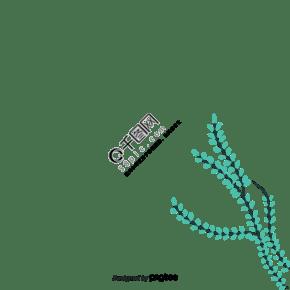 春天綠色植物葉片樹枝