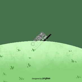 春天綠色田野小草