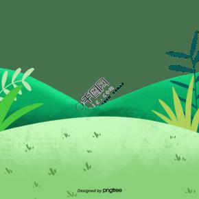 綠色草坪小草植物