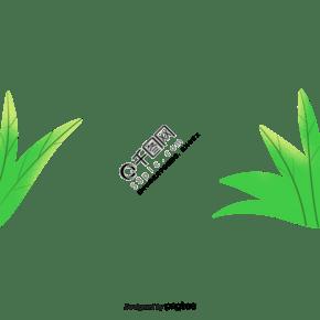 春天綠色小草綠葉