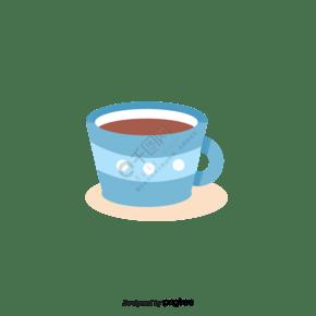 卡通風格咖啡杯咖啡