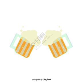 卡通啤酒碰杯