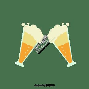 兩杯啤酒碰杯