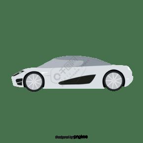 银色跑车交通工具